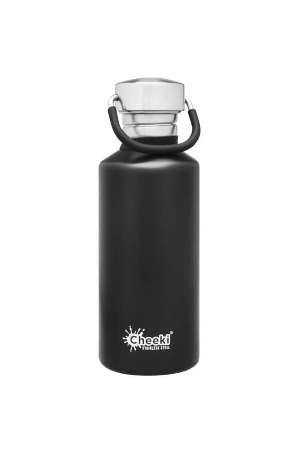 500ml Classic Matte Black Reusable Water Bottle