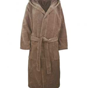 1361 organic cotton velour bath robe