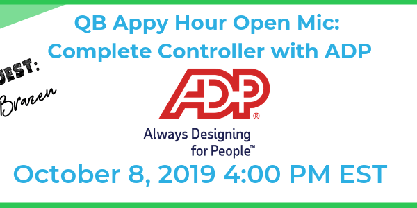 QB Appy Hour Open Mic – Complete Controller with ADP