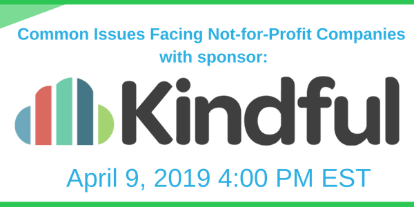 Common Issues facing Not for Profit Companies with sponsor: Kindful