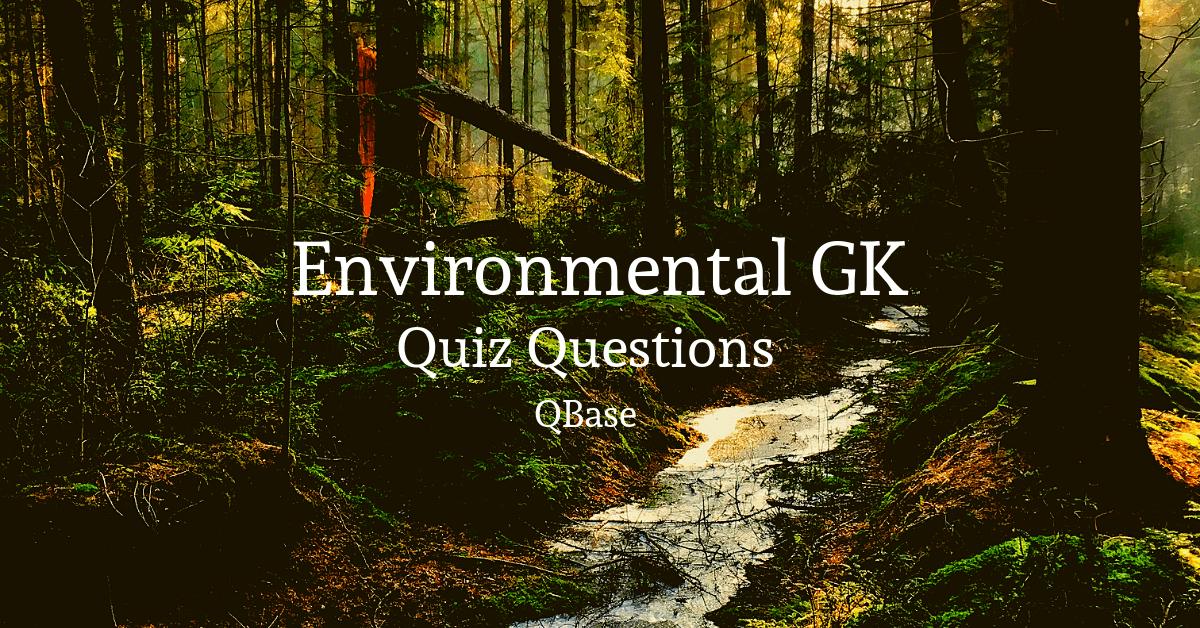 important environment quiz questions