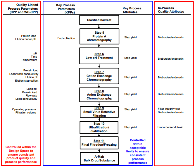 Downstream process map