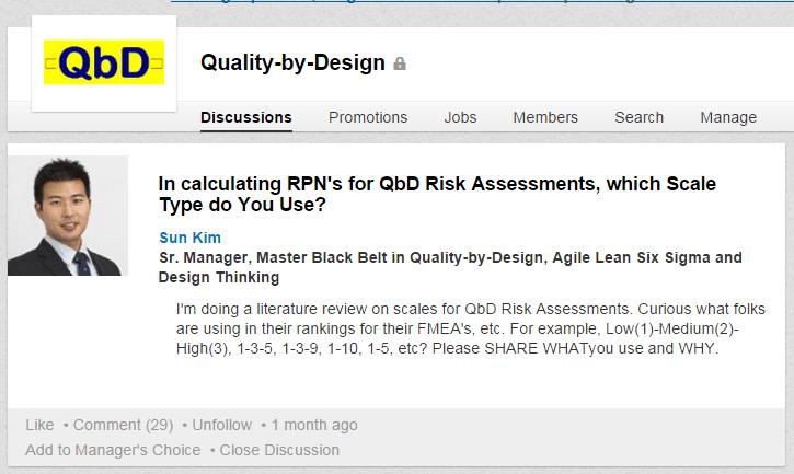 RPN in QbD FMEA