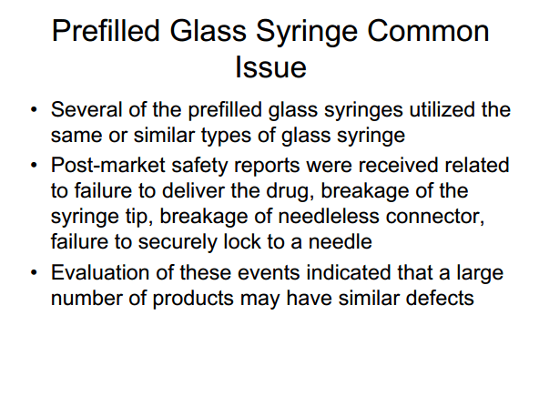 Prefilled Syringe Combination Products