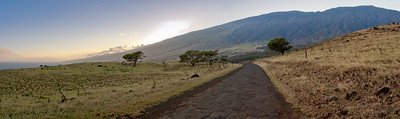 The backside of Haleakala volcano on the Pi'ilani Highway