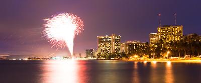Hilton Hawaiian Village fireworks, Waikiki Beach