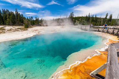Black Pool at West Thumb Geyser Basin, Yellowstone National Park