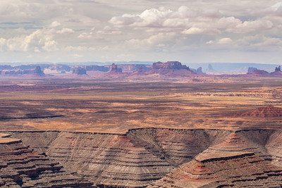 Monument Valley 20 miles away, from Muley Point, Utah