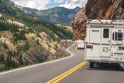 Uncompahgre Gorge, Million Dollar Highway, Colorado