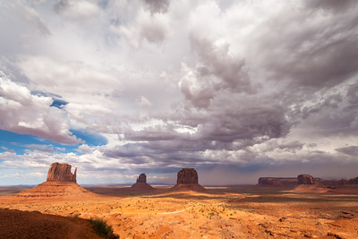 The Mittens, Merrick Butte & Elephant Butte, Monument Valley, Arizona