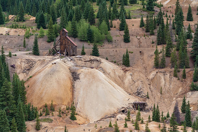 Abandoned Idarado & Yankee Girl gold mine along the Million Dollar Highway, Colorado