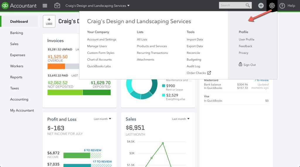 How To Navigate The Quickbooks Online Dashboard Qbochat
