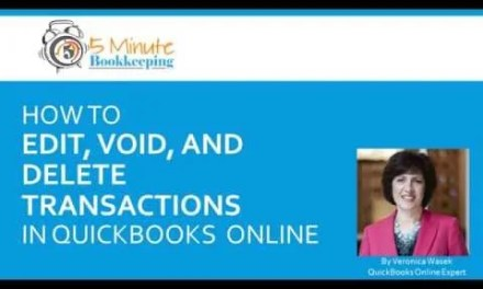 Video: How to edit, void and delete transactions in QuickBooks Online