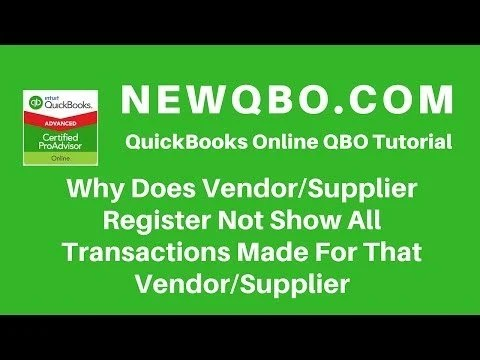 Video: Why Does Vendor Register Not Show All Transactions Made For That Vendor