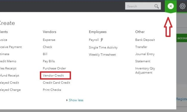 How Do I Enter a Vendor Credit in QBO?