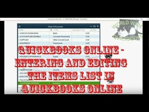 Entering and Editing the Items List in QuickBooks Online