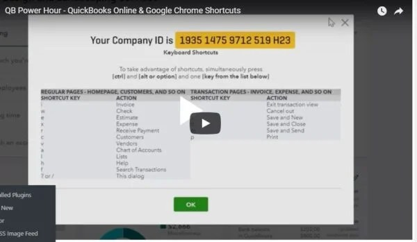 Video: QB Power Hour – QBO Shortcuts & Google Chrome