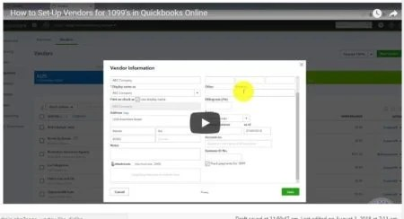 How to Set-Up Vendors for 1099's in Quickbooks Online