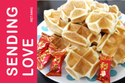 Crispy Waffle with Chinese candy