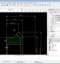 qcad 2d cad for windows linux and mac [ 1040 x 864 Pixel ]