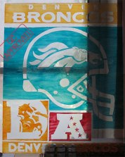 A broke college student's alternative to an aluminum Broncos sign. / QC APPROVED.