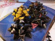 Sports Illustrated magazines recycled into gift bows / QC APPROVED.
