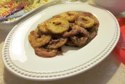 Fried n' toasted up apple rings ready to be devoured! / QC APPROVED.