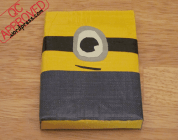 Minion pouch with Ziplock closure, taped together with duct tape / QC APPROVED.