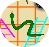 image of a snake and ladders game: close-up