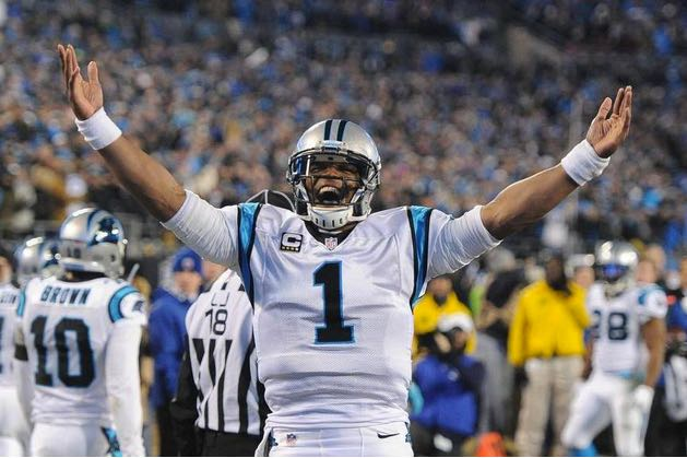 Cam Newton Celebrates