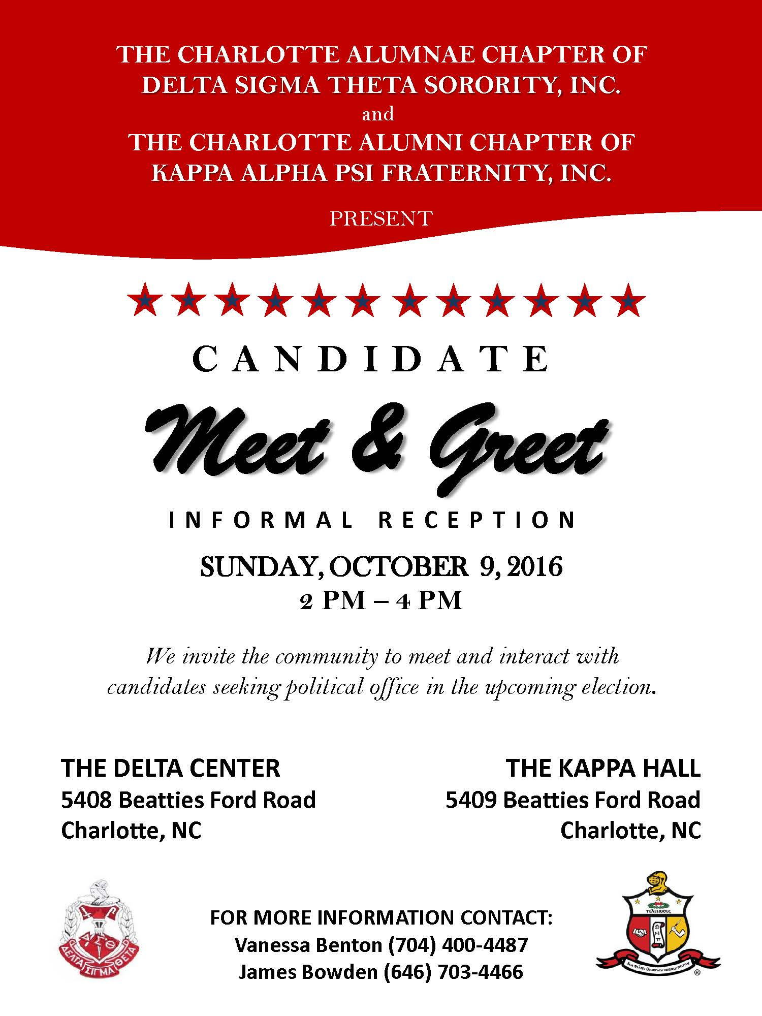 Candidate meet and greet q city metro the community is invited to a candidate meet and greet reception hosted by the charlotte alumnae chapter of delta sigma theta sorority m4hsunfo
