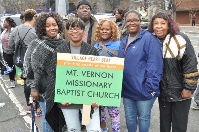 Scene at the Carolinas HealthCare System Martin Luther King, Jr. Holiday Parade in uptown Charlotte, January 14, 2017. (Photo: Glenn H. Burkins for Qcitymetro.com)