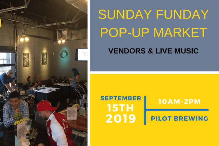 Sunday Funday Market at Pilot Brewing - Q City Metro