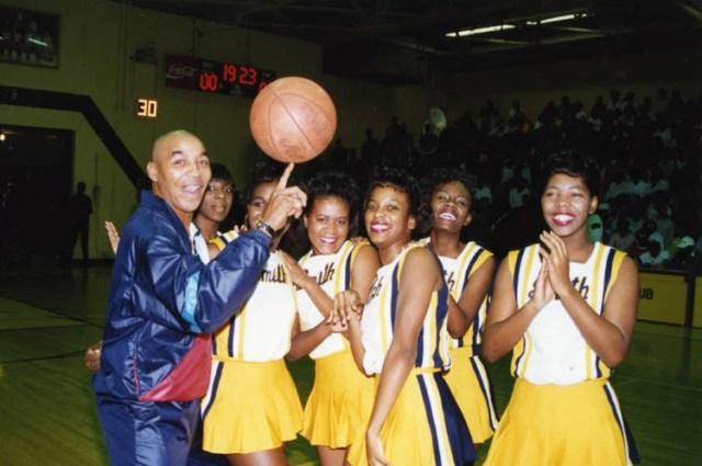 Curly-Neal-with-JCSU-cheerleaders