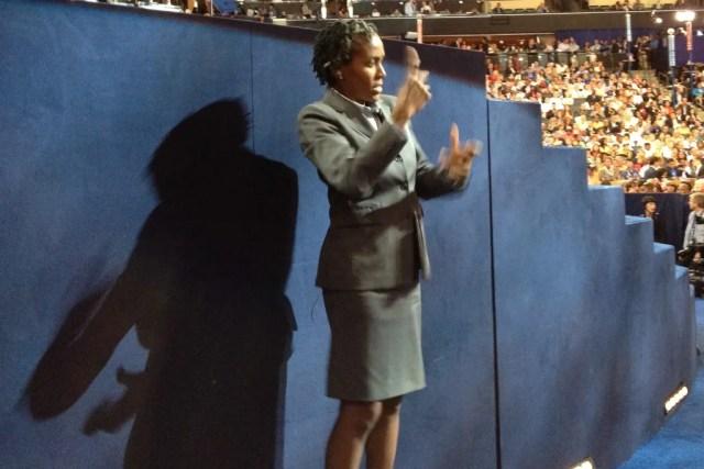 Elita-Hill-Sign-Language-interpreter-DNC-2012