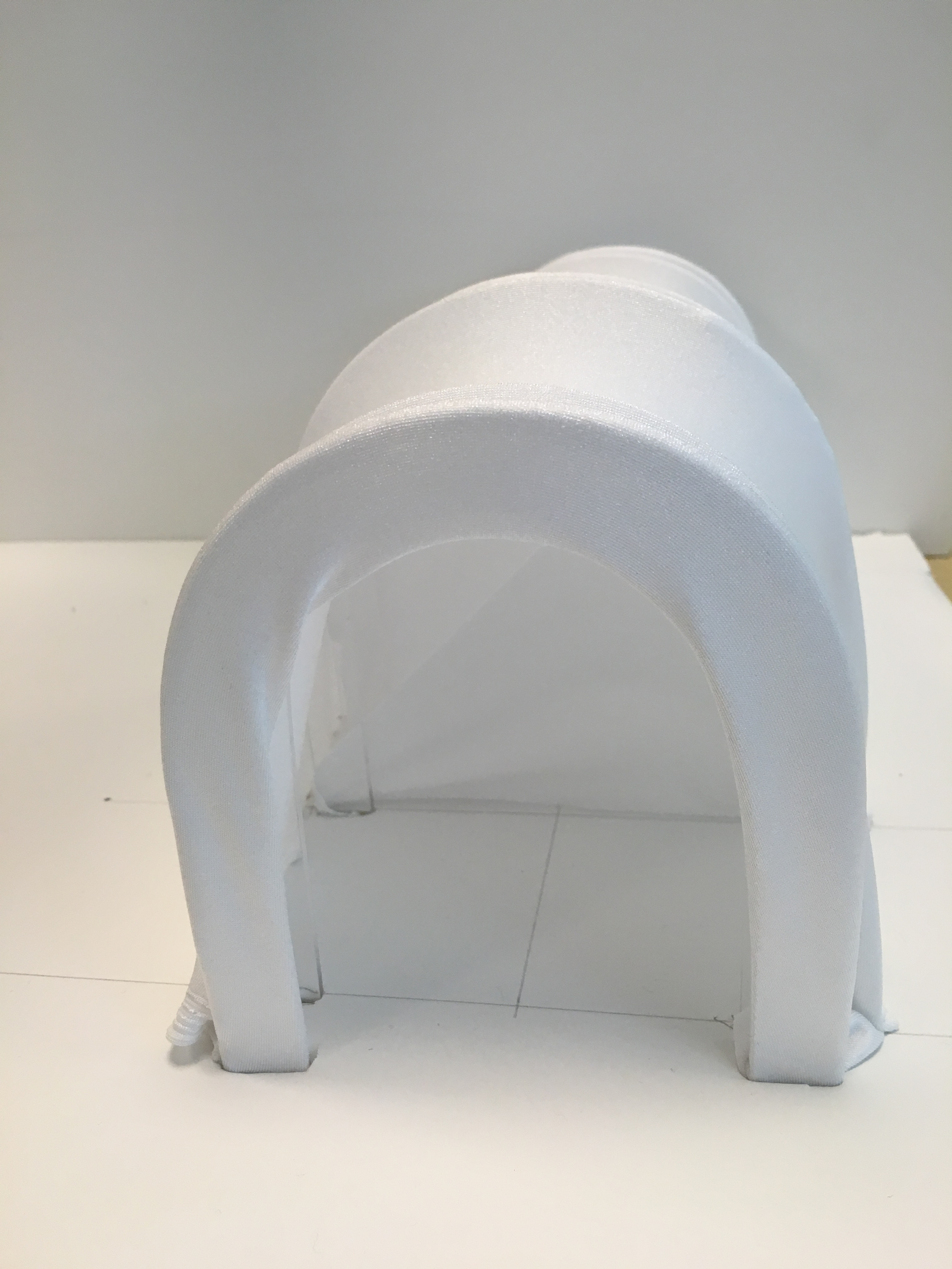 Front view of Tunnel scale model.