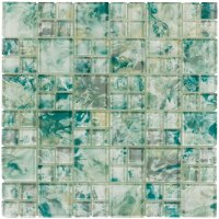 MONET Tonda Sea Green Glass Mosaic Tile | QDI Surfaces