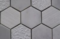 CARRARA Hexagon Honed Marble Mosaic Tile | QDI Surfaces