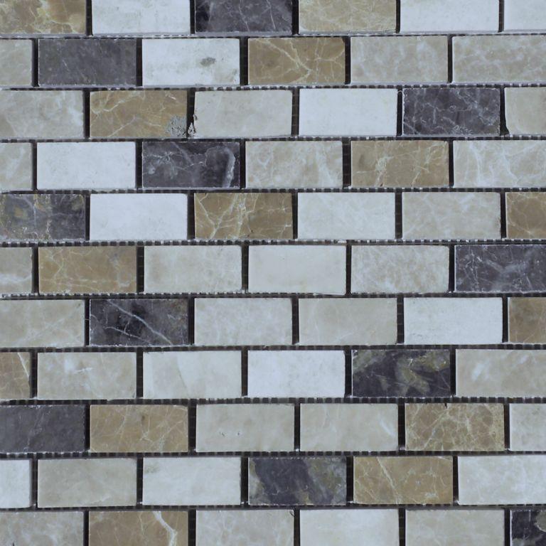 dark mixed marble mosaic tile qdi