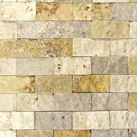 MIX Travertine Split Face Tile | QDI Surfaces