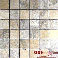 PHILADELPHIA Travertine Mosaic Tile | QDI Surfaces