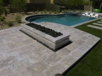 Silver Travertine Single Bullnose Coping