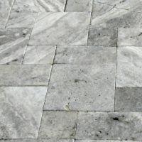 Silver Travertine Natural Stone Paver   QDIsurfaces
