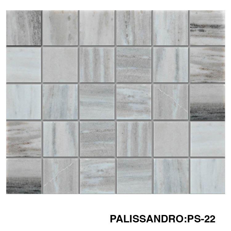 x2 polished marble mosaic tile