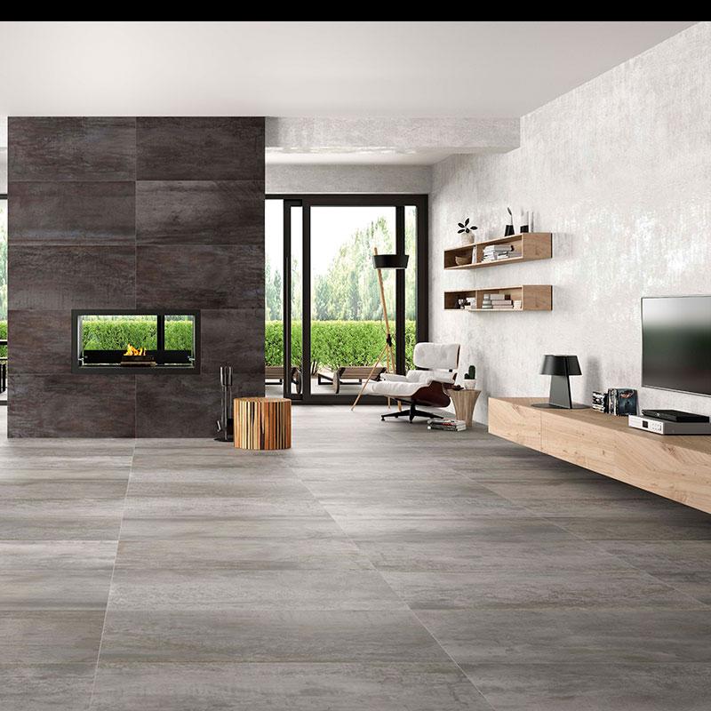 acier white 24 x48 porcelain floor