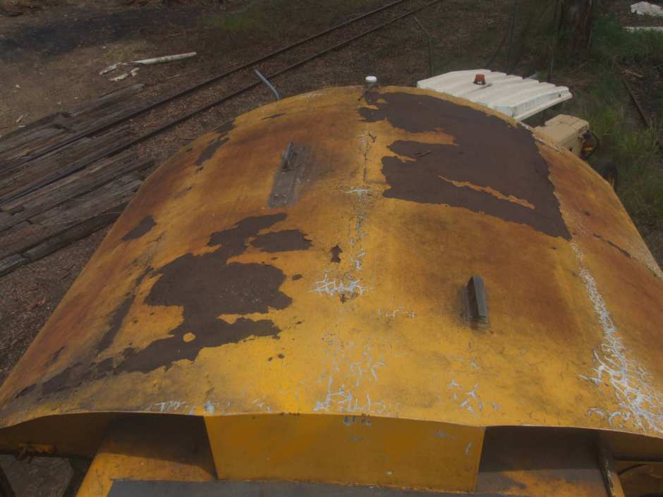 1707D - Cab roof prior to locomotive's removal from Box Flat