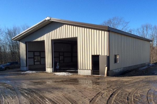 50x60x16 Maine Metal Building  QE Building Co