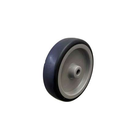 125MM GREY THERMOPLASTIC RUBBER TYRE WHEELS