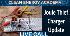 Live Call  March 29  Joule Thief Charger Update
