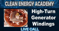 High-turn generator windings – Live call July 4th5pm EST